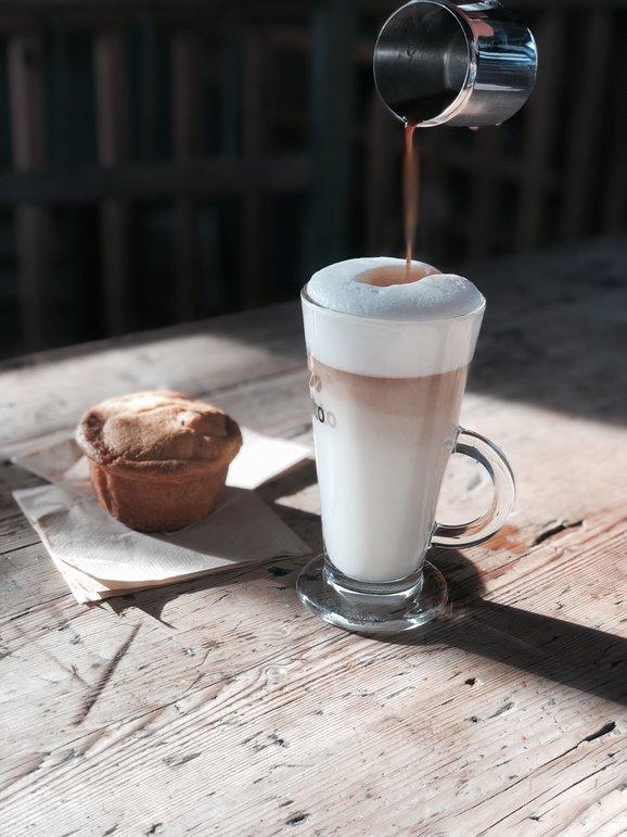 Heerlijke huisgemaakte Latte Macchiato